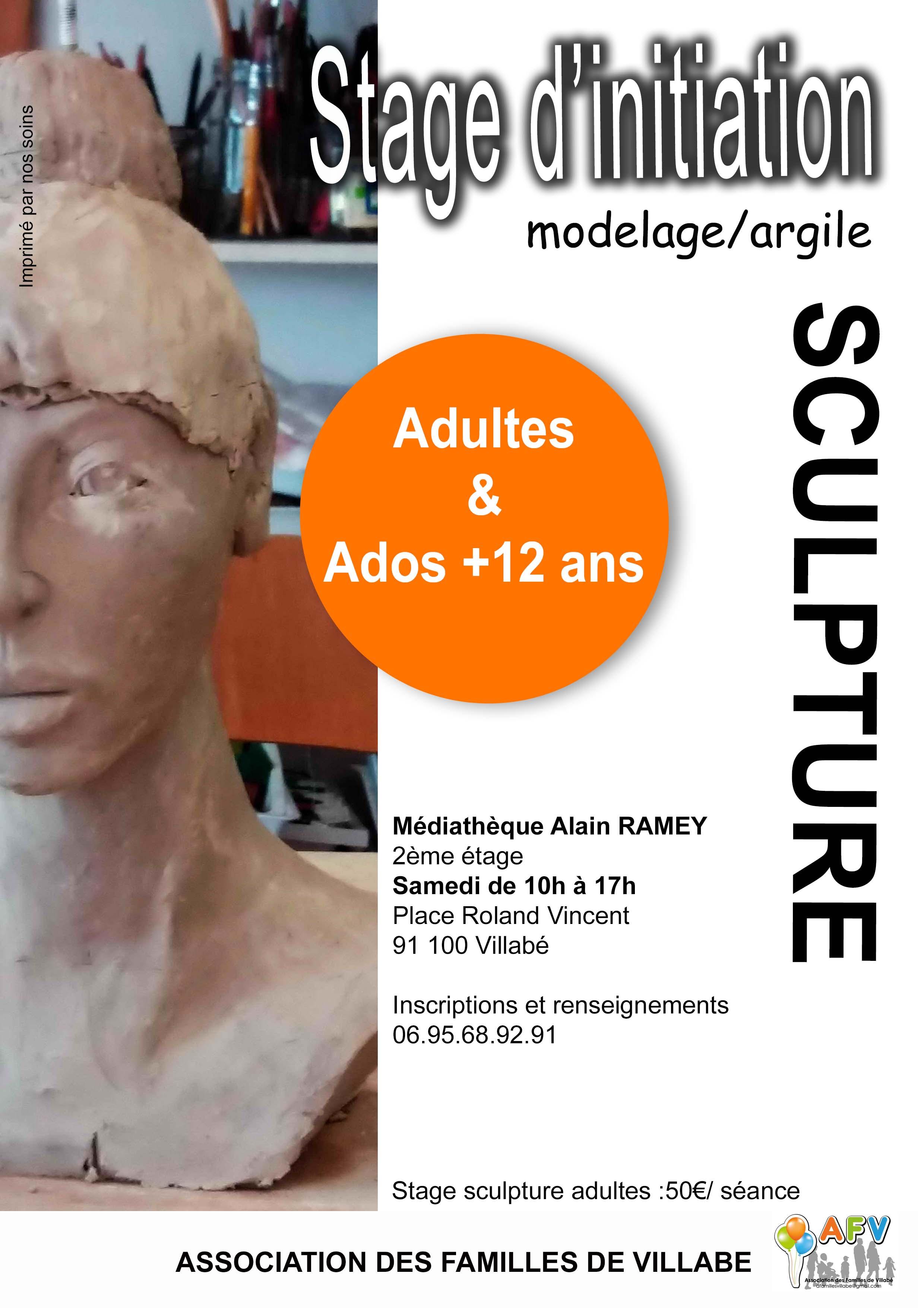 Une journée de sculpture – Adultes & ados + 12 ans