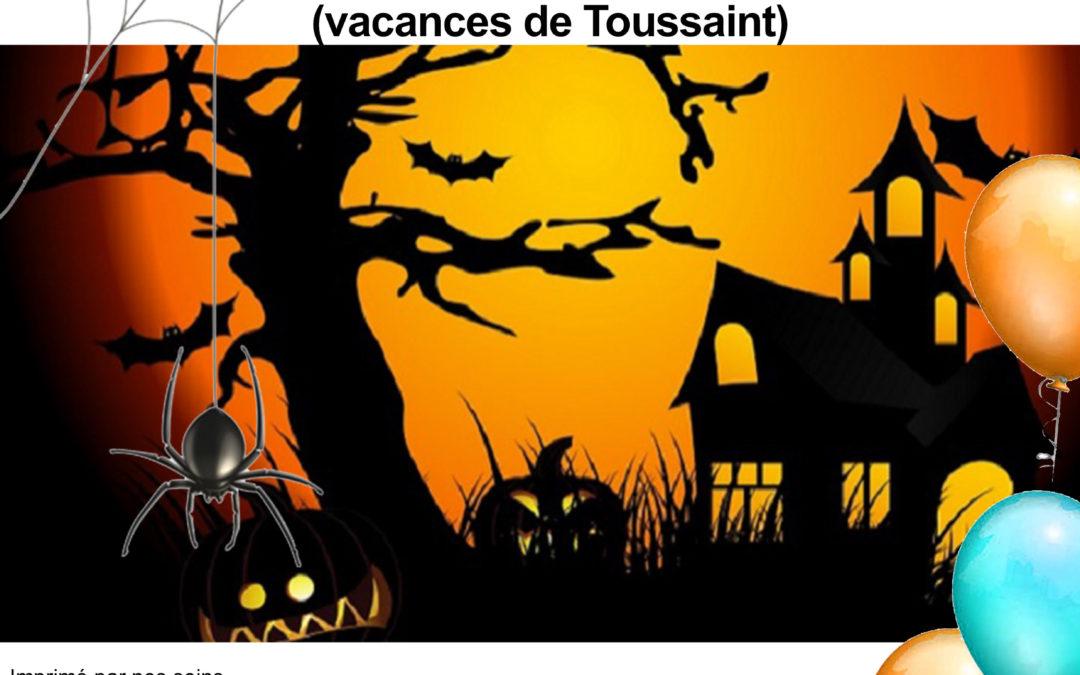 Stage de modelage – vacances de la Toussaint 2019